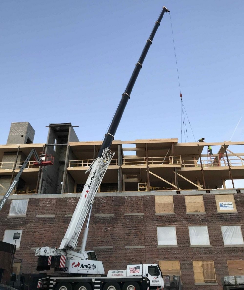 Former South Boston Rivet Factory Gets Heavy Timber Upgrade